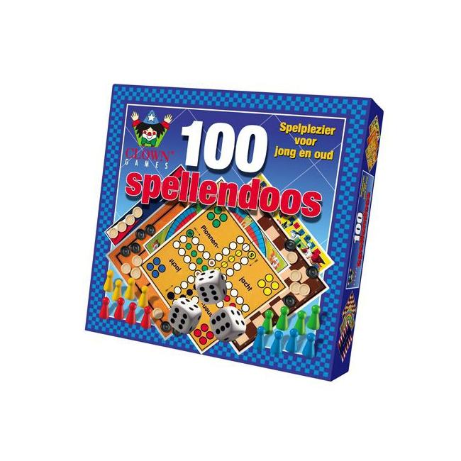 Clown spellendoos 100 delig