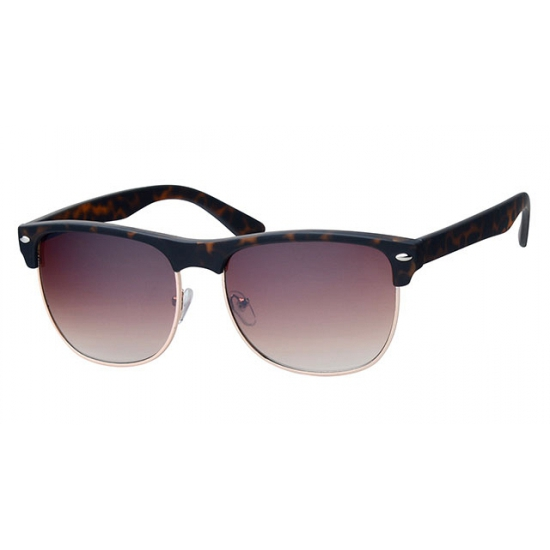 Clubmaster zonnebril bruin met bruine glazen