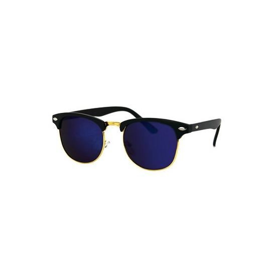 Clubmaster zonnebril mat zwart en olie glazen