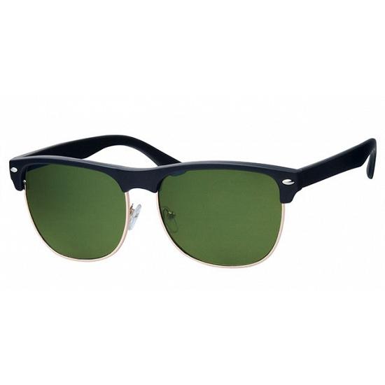 Clubmaster zonnebril zwart