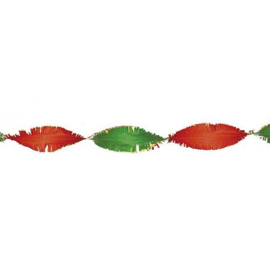 Crepe slinger rood / geel / groen 6 meter