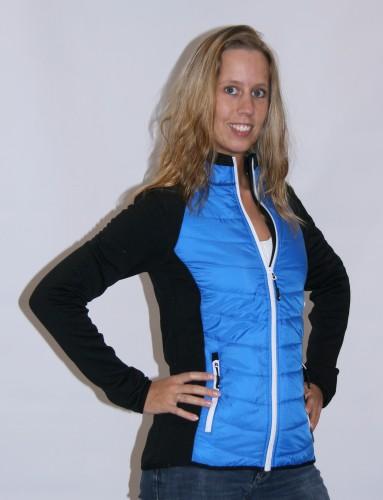 Dames hybride jas zwart blauw en wit