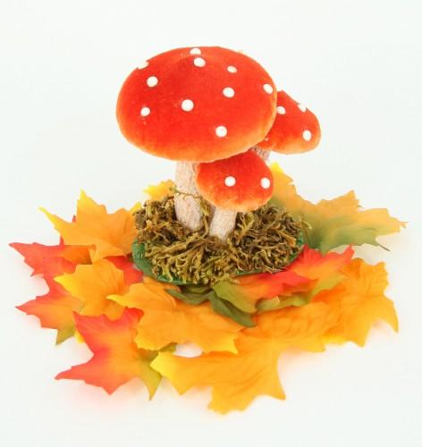 Decoratie paddenstoel van 10 cm