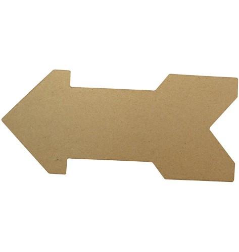 Decoratie pijl van papier mache 28 cm