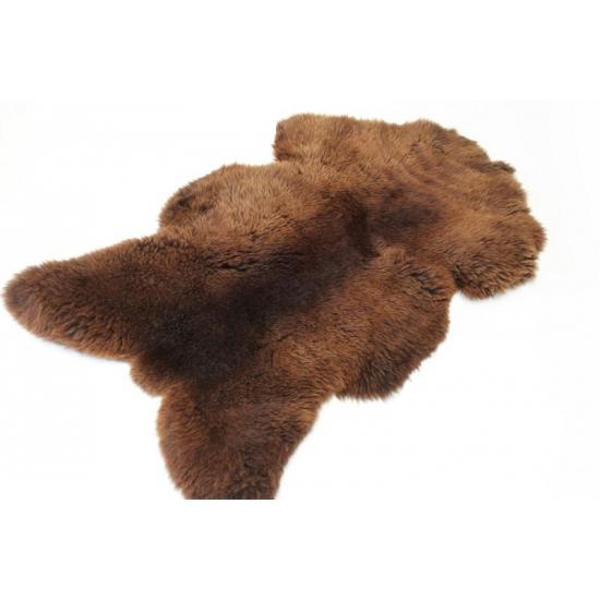 Decoratie schapenvacht bruin