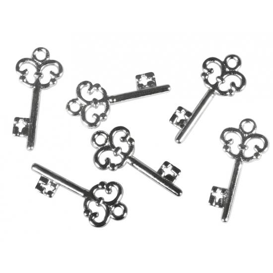 Decoratie sleutels 24 stuks