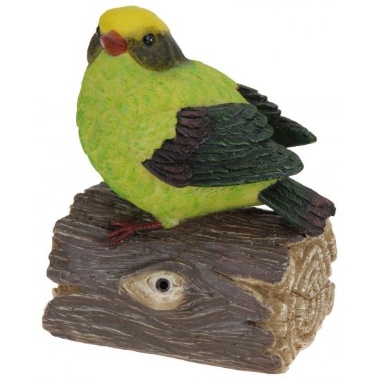 Decoratie vogeltjes met geluid groen