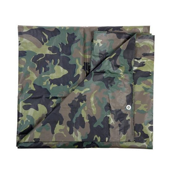 Dekzeil 4 x 5 meter camouflage