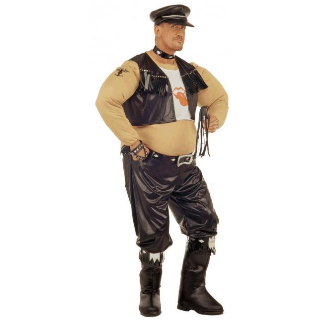 Dikke Biker kostuum voor heren