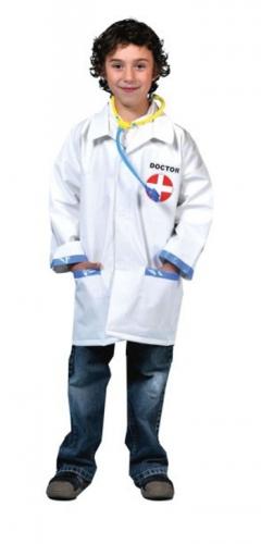 Dokter jas met stethoscoop voor kinderen