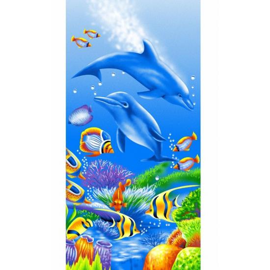 Dolfijn strandlaken 75 x 150 cm