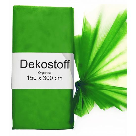 Donkergroene organza stoffen 150 x 300 cm