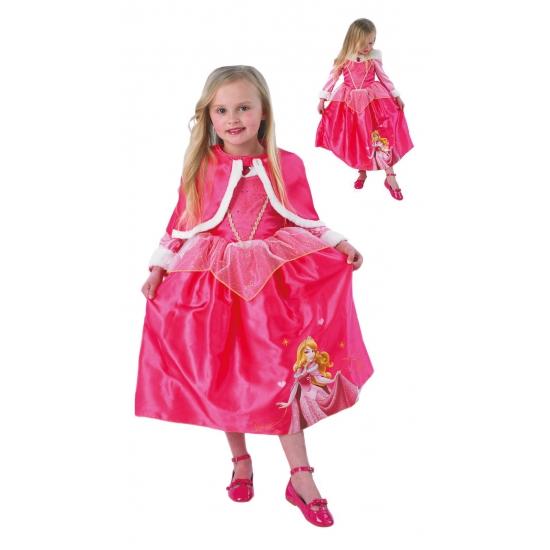 Doornroosje kostuum met cape voor kinderen
