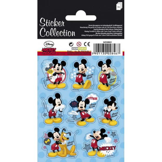 Drie velletjes Mickey Mouse stickers