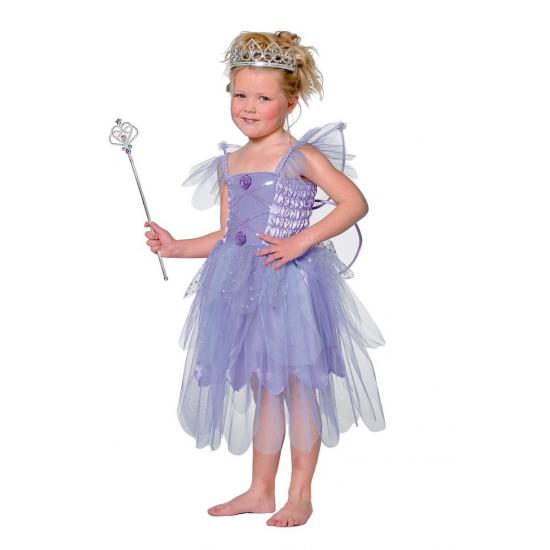 Elfen jurkje in de kleur paars kinderen