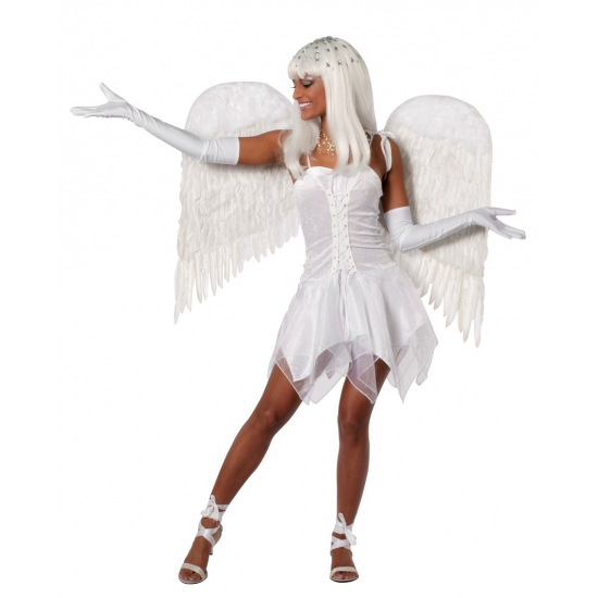 Engelen jurk dames wit