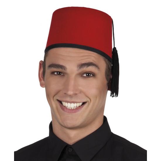 Verkleed fez hoedje rood