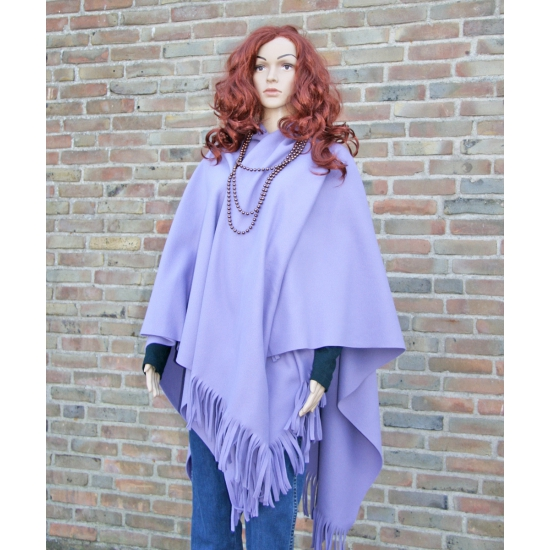 Fleece poncho lila paars