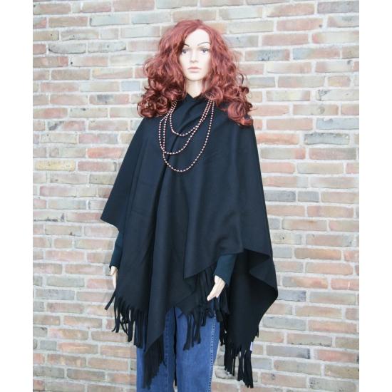 Omslagdoek fleece zwart