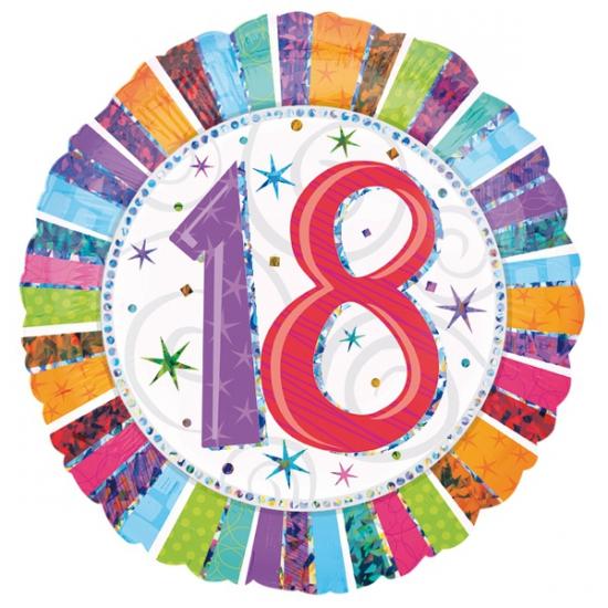 18 jaar folie ballon helium