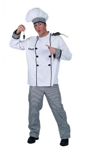 Franse chef kok kostuum voor heren