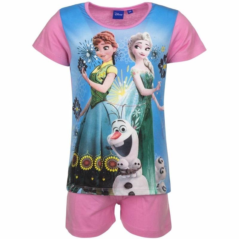 Frozen korte pyjama roze