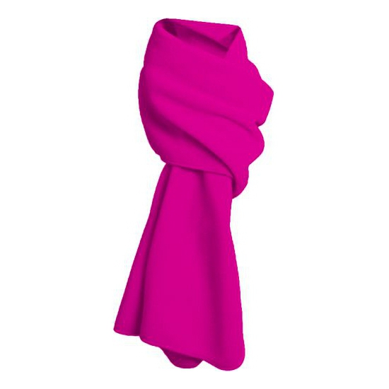 Fuchsia roze fleece sjaal winter