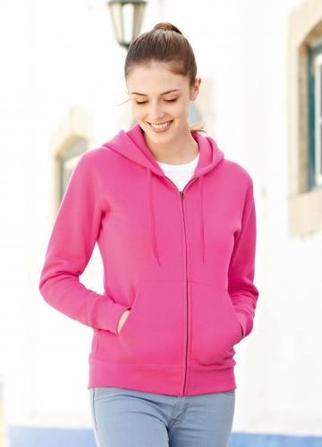 Fuchsia roze vestje met capuchon voor dames