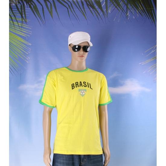 Geel groen shirt brazilie