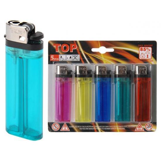 Gekleurde aanstekers 5 stuks
