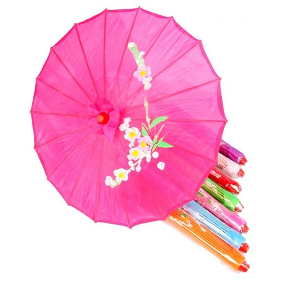 Gekleurde paraplu chinese stijl 80 cm
