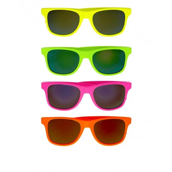 Gekleurde retro zonnebril