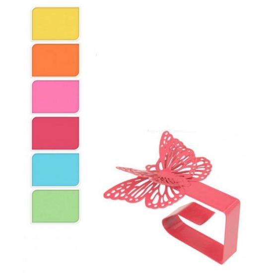 Gekleurde tafelkleedklemmen vlinder vorm