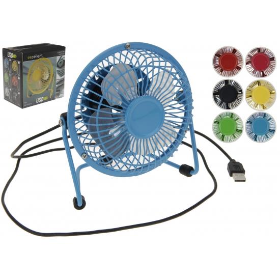Gekleurde ventilator met USB aansluiting