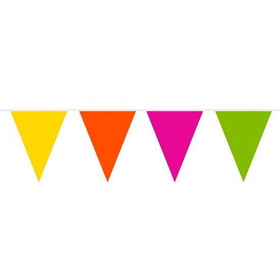 Gekleurde vlaggenlijn van plastic 10 meter