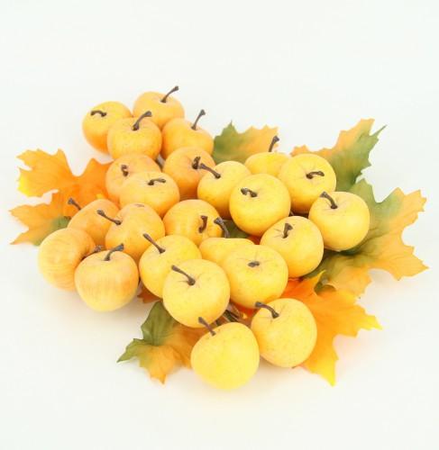 Gele appeltjes op draad 2 cm