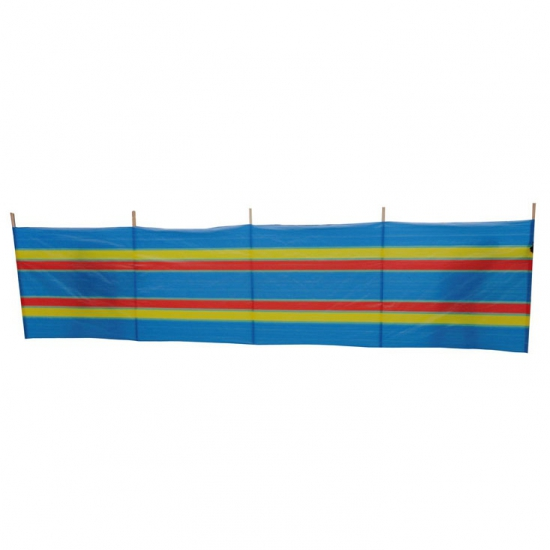 Gestreept windscherm blauw 500x120cm