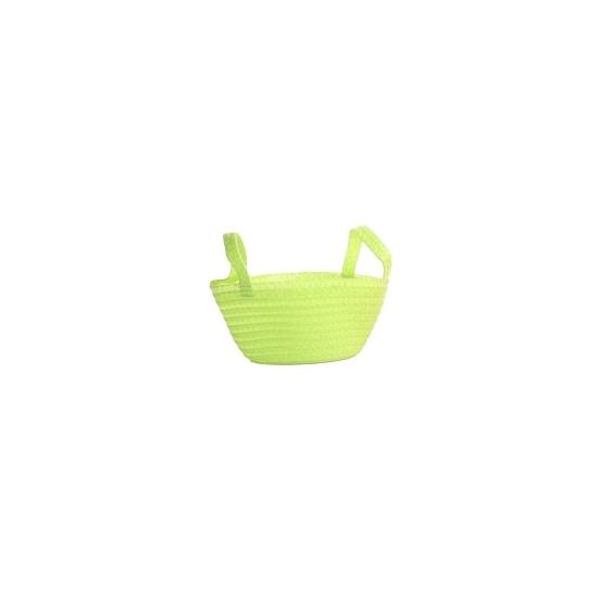 Gevlochten mandje groen 24 cm