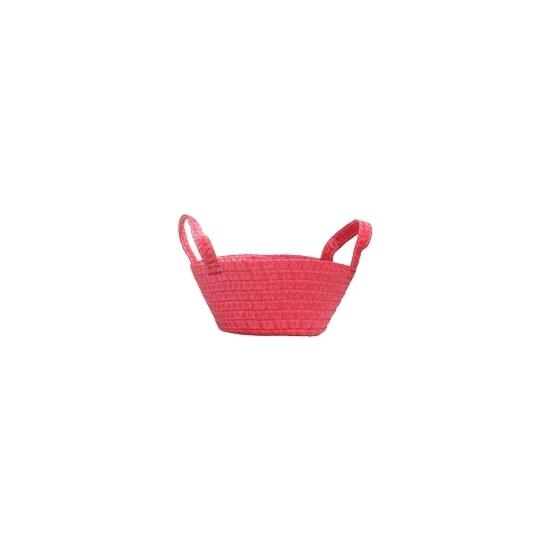 Gevlochten mandje rood 24 cm