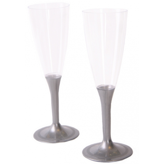 Glazen met zilveren voet 10 stuks