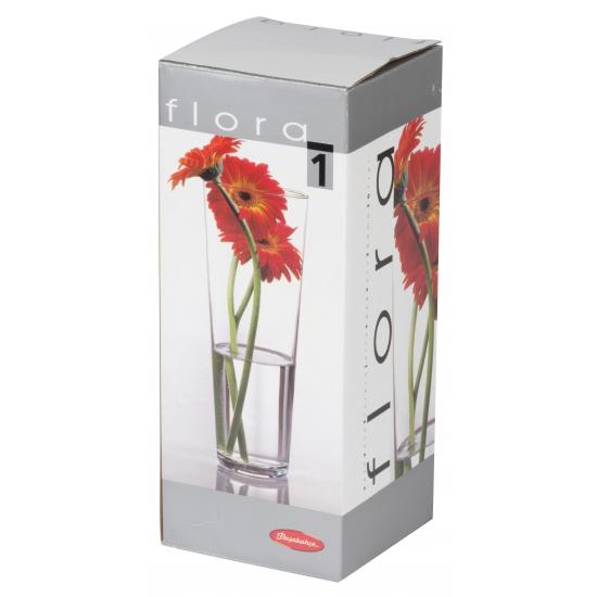 Glazen vaas voor bloemen 26 cm