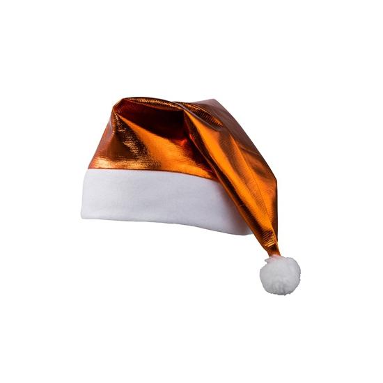 Glimmende oranje kerstmuts