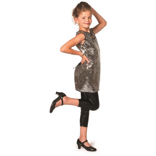 Zilveren disco jurk meisjes