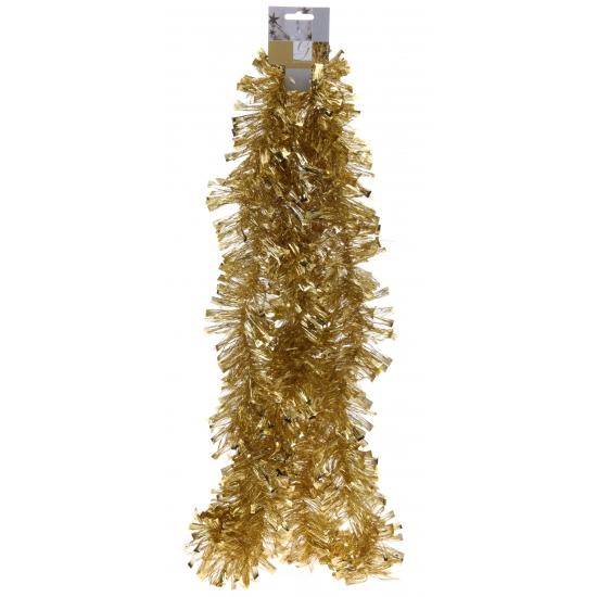 Gouden folie slinger 270 cm