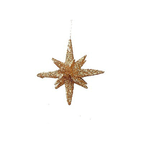 Decoratie kerstster 3d goud 7
