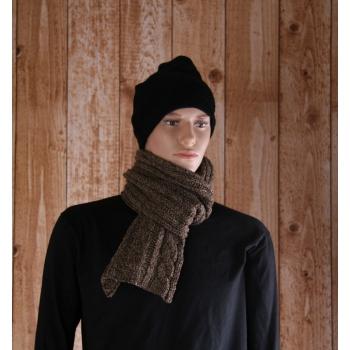 Grijs/bruine gebreide sjaal 176 cm