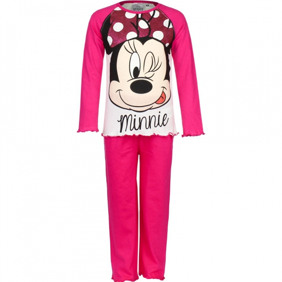 Grijze kinder pyjama Minnie Mouse