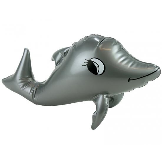 Grijze opblaas dolfijn 39 cm