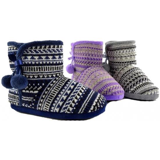 Grijze pantoffels voor dames