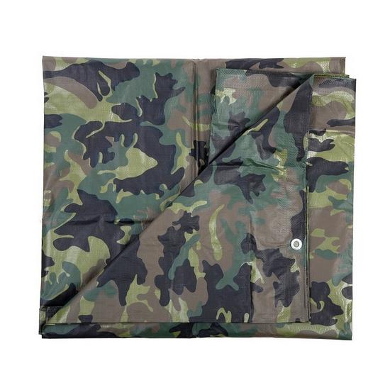 Groen camouflage afdekzeil 3 x 3.80 m
